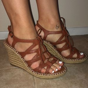 Women's Sugar Hunnies Wedge Sandals Sz 8.5